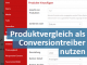 Produktvergleich als Coversiontreiber, mehr Besucher & erste Einnahmen