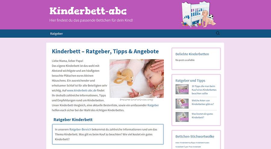 Kinderbett-Theme-Übersicht