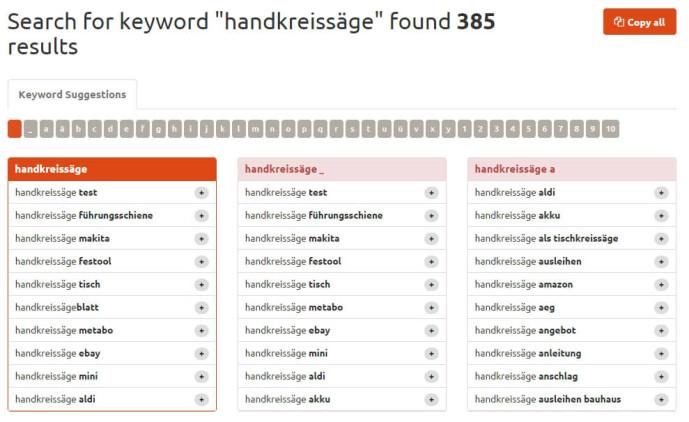 Keyword Tool Keyword Recherche