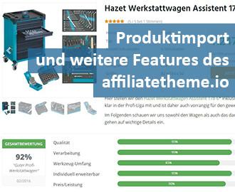 Produktimport affiliatetheme