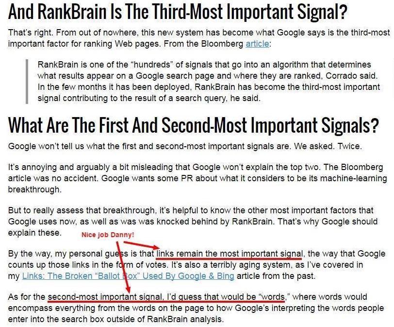 Backlinks Rankingfaktor Nr. 1